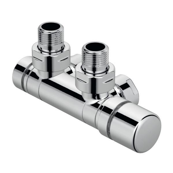 Kromozott radiatorszelep also 50 mm csatlakozassal sarok 1